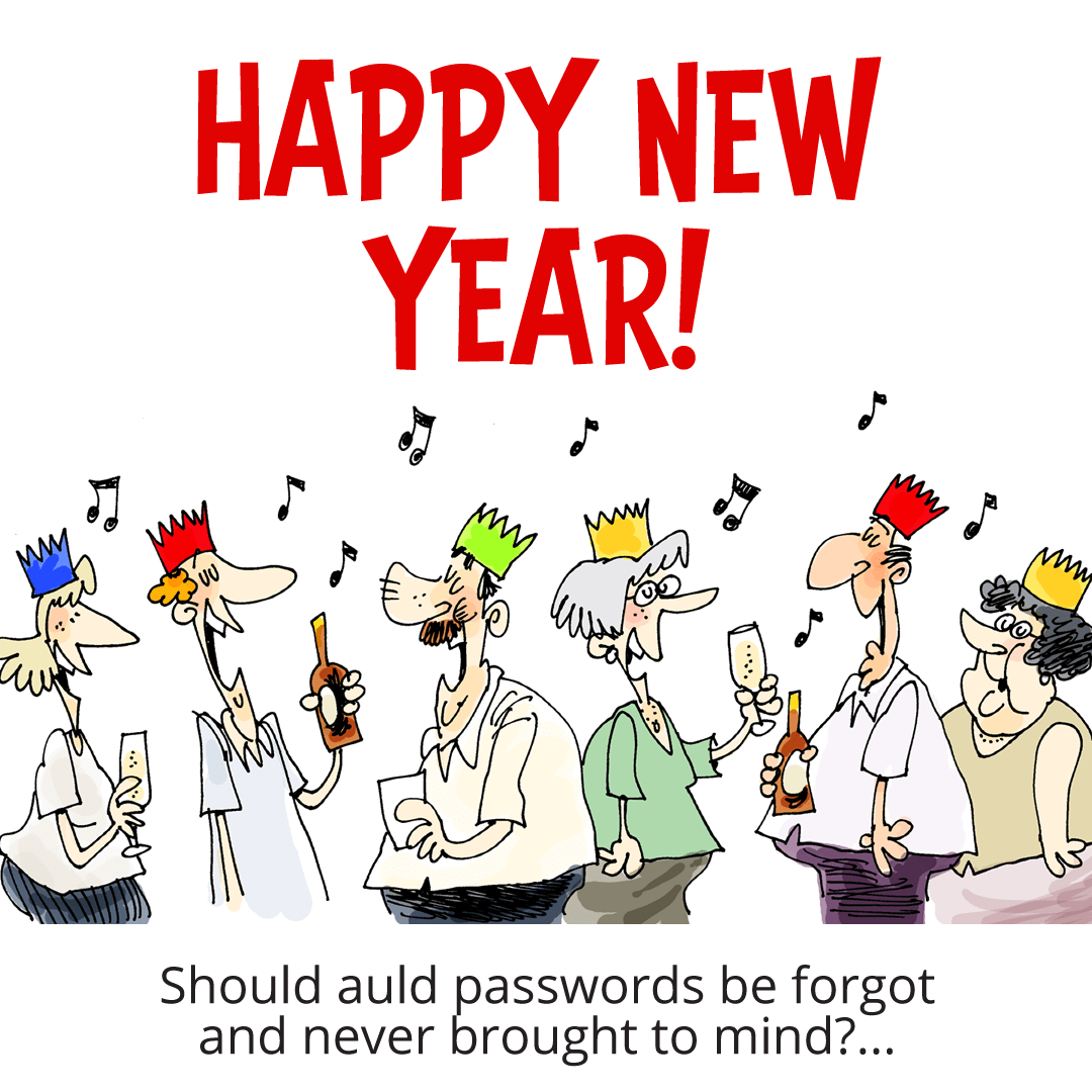 You've got Mail Cartoon - Auld Passwords